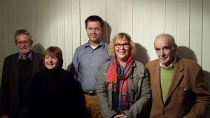 Susanne Danhier mit dem Vorstand der AfB Stormarn
