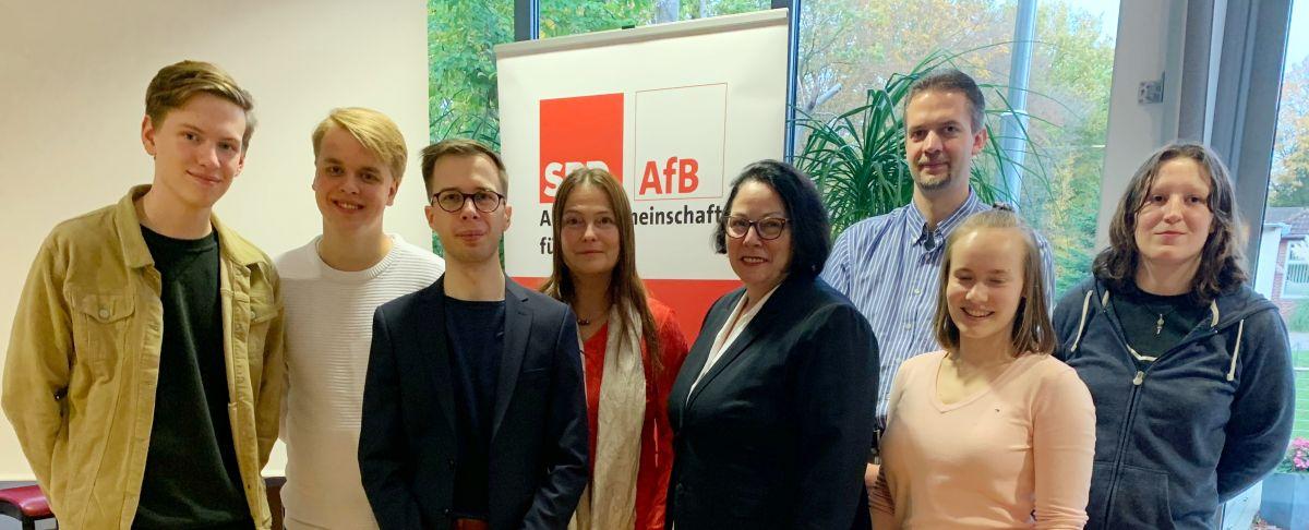 Der aktuelle Landesvorstand der Arbeitsgemeinschaft f?r Bildung i.d. SPD SH (AfB) auf der Vollversammlung am 26.10.2019