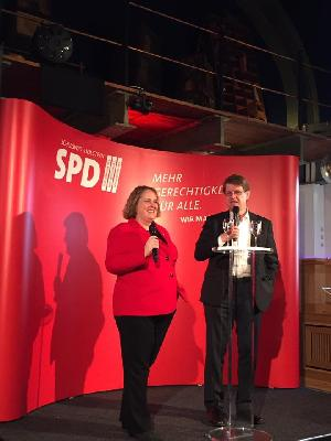 Katrin Fedrowitz und Ralf Stegner