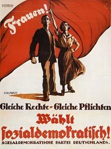 Plakat zum Frauenwahlrecht 1919