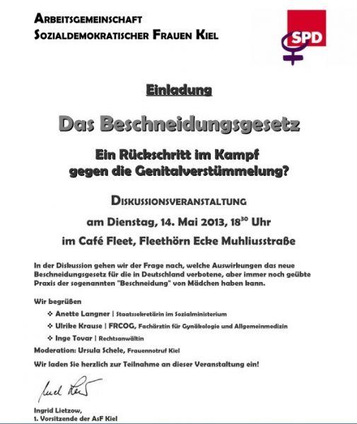 Einladung Veranstaltung Beschneidungsgesetz 14. Mai 2013