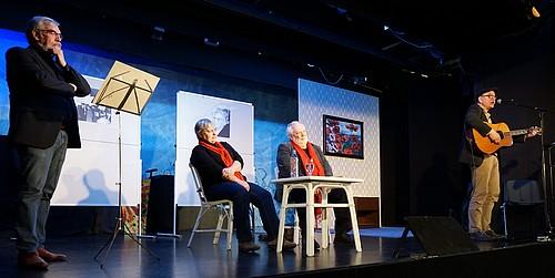 V.l.: Rolf Fischer, Susanne Kalweit, Alfred Dieckmann, Kay Kankowski. Foto W. Baumgarten