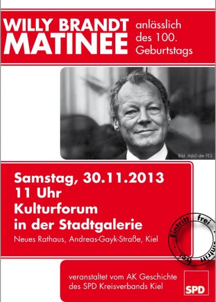 Willy Brandt-Matinee 30.11.13