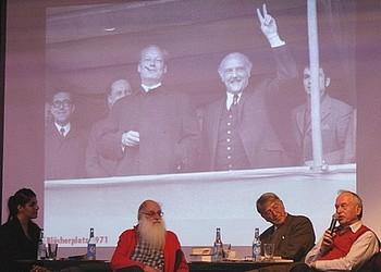 V.l. Gamze Özdemir, Eckehard Raupach, Norbert Gansel und Dr. Fritz Fischer