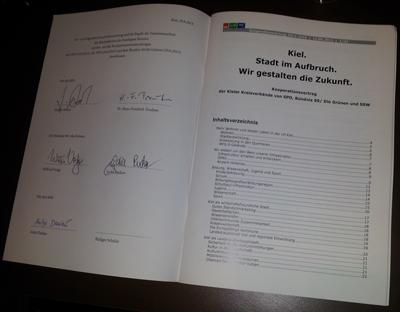 Der unterschriebene Kooperationsvertrag