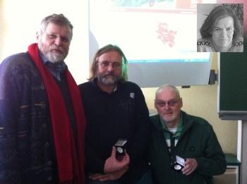 v.l.: R. Riep, C. Schröder, M. Preuschhof, oben: G. Lönne