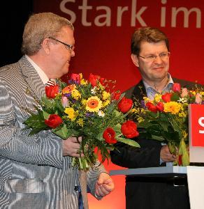 Uwe D�ring (links) und  Ralf Stegner, SPD-Landesvorsitzender