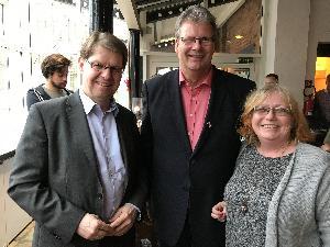 Zufriedene Gesichter über einen gelungenen SPD-Arbeitnehmere