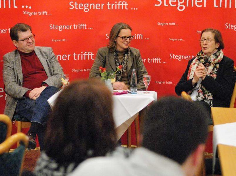 SPD Bordesholm, Ralf Stegnwer und Heide Simonis zu Gast beim Ortsverein Bordesholm.