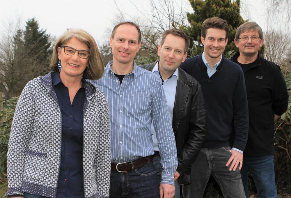 Das Team der SPD: Petra Paulsen, Andreas Malzahn, Justus Fricke, Johann Engel, Klaus Stamm