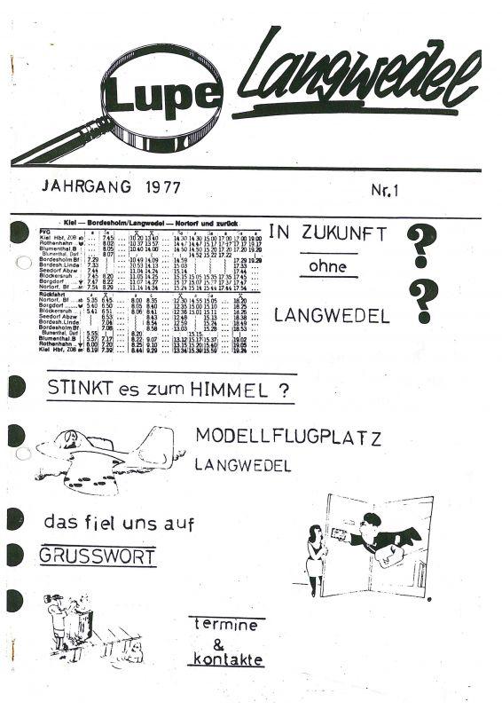1. Ausgabe der SPD Lupe 1977