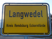 Ortsschild Langwedel