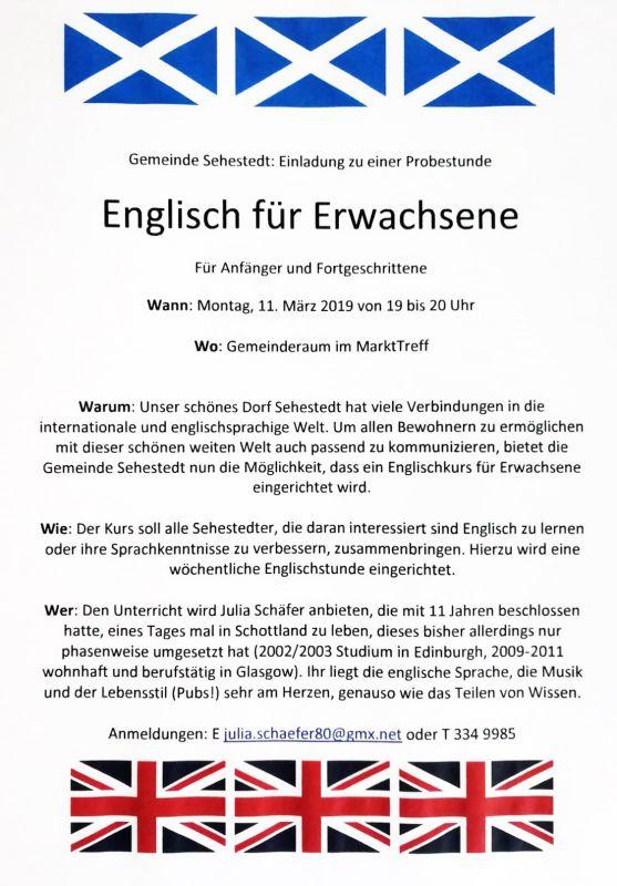 Spd Sehestedt Englisch Für Erwachsene