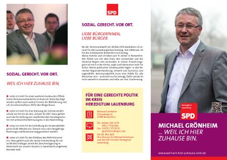 WahlFlyer Michael Grönheim - Kreistag