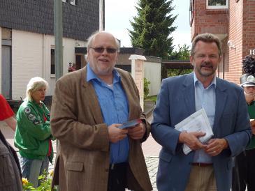 Der Landtagsabgeordnete Beran und sein Kollege aus dem Bundestag