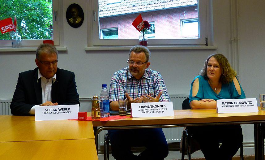 v.l.n.r.: Stefan Weber, Franz Thönnes, Katrin Fedrowitz