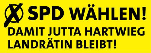 SPD wählen, damit Jutta Hartwieg Landrätin bleibt!