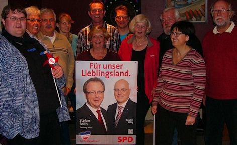 SPD-Kiebitzreihe freut sich auf den Endspurt im Wahlkampf.