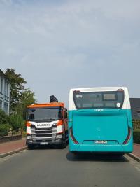 Schwerlastverkehr in der Rathausstraße
