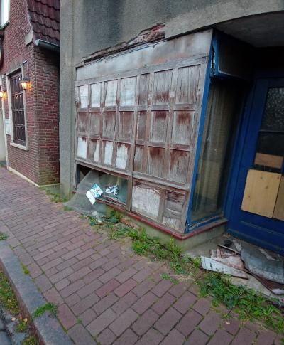 Eines der verwahrlosten Häuser am Kohlmarkt