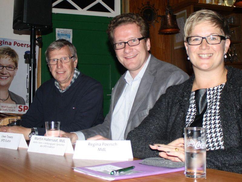 Uwe Tewes, Martin Habersaat, Regina Poersch