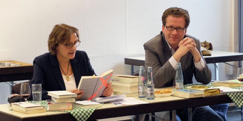 Britta Ernst und Martin Habersaat