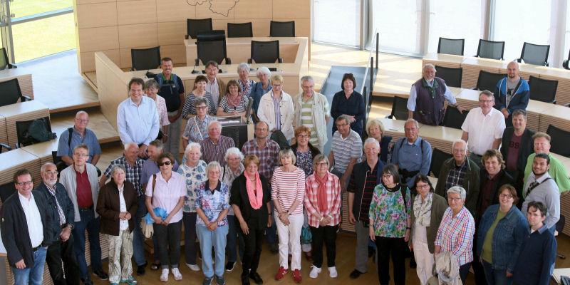Foto: Mit vielen Gästen im Landeshaus