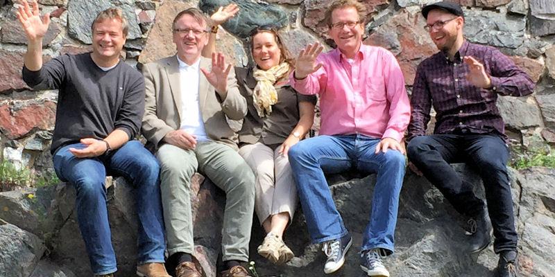 Foto: Fünf Landtagsabgeordnete in Helsinki