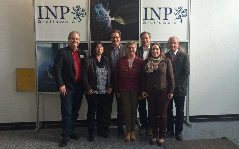 Foto: Besuch beim INP Greifswald