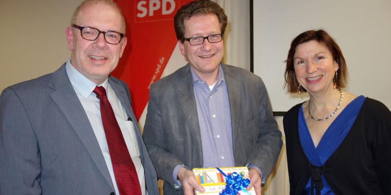 Wolfgang Jurksch, Martin Habersaat und Sibylle Hampel