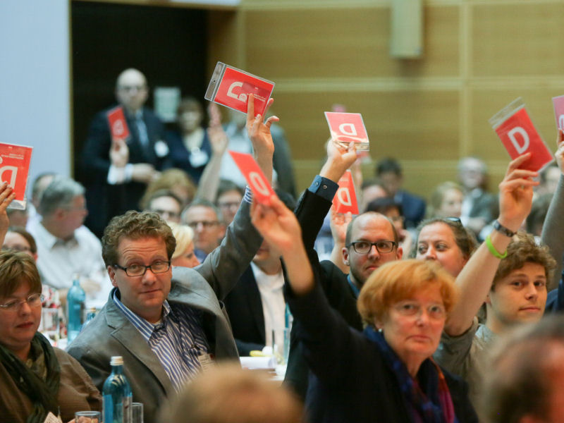 Foto: SPD-Konvent, Fotograf: Dirk Bleicker