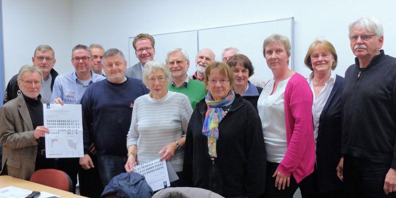 Foto: Mitglieder der SPD Glinde und Martin Habersaat