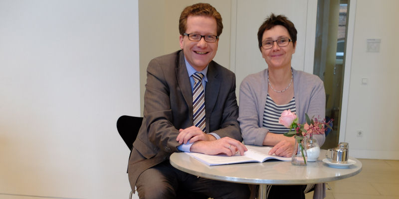Foto: Martin Habersaat und Finanzministerin Monika Heinold