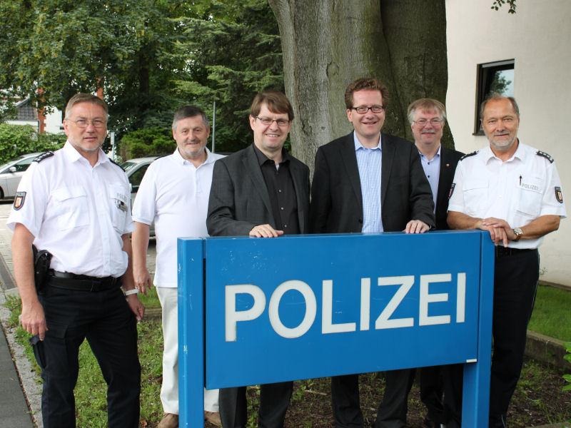 Besuch bei der Reinbeker Polizei
