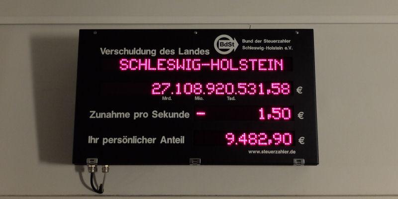 Foto: Schuldenuhr