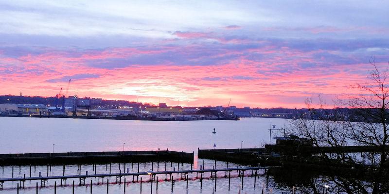 In Kiel geht die Sonne auf