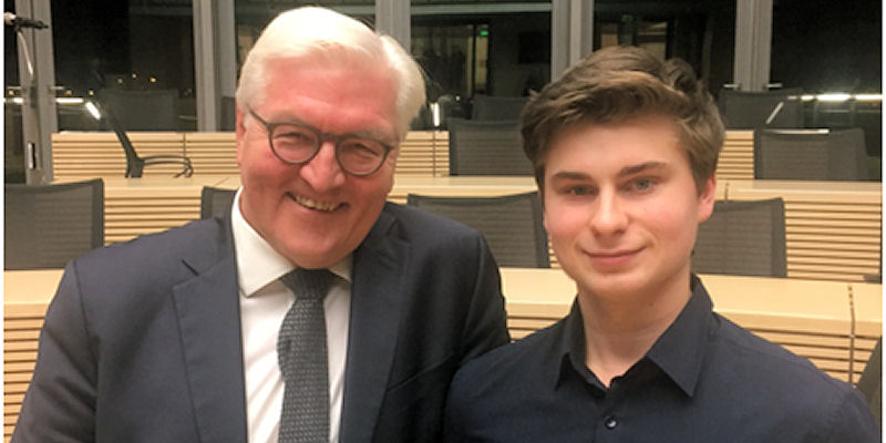 Foto: Frank-Walter Steinmeier und Bastian van der Neut