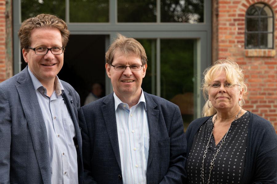 Martin Habersaat, Ralf Stegner und Marion Meyer