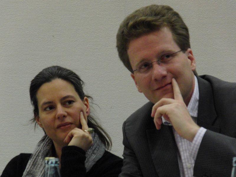 Foto: Nina Scheer und Martin Habersaat