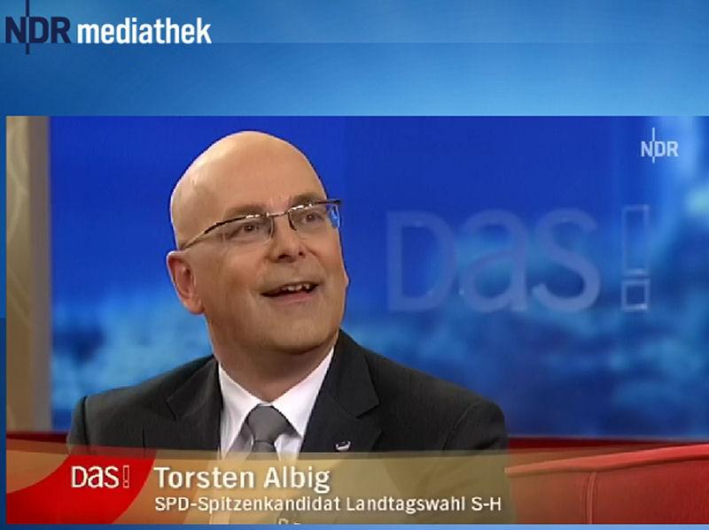 Torsten Albig bei DAS!