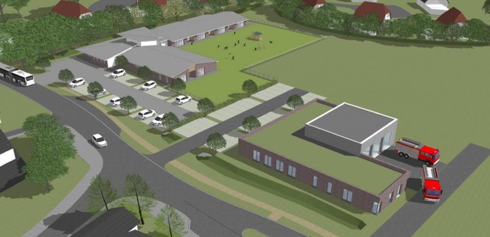Neubau Kindergarten/FFW